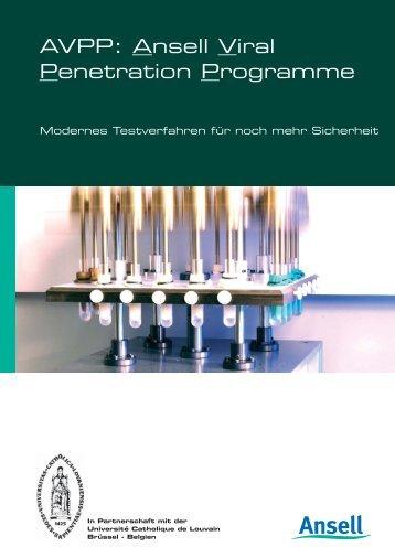 AVPP Brochure (pdf) - Ansell Healthcare Europe