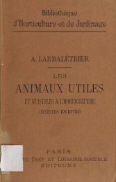 animaux utiles - Biblioteca Digital de Obras Raras e Especiais - USP