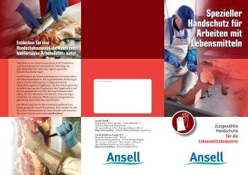 für die Lebensmittelindustrie Spezieller ... - Ansell Healthcare Europe