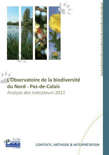 Synthèse 2012 - Observatoire régional de la biodiversité