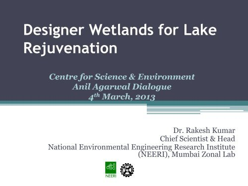Lake Rejuvenation - Centre for Science and Environment
