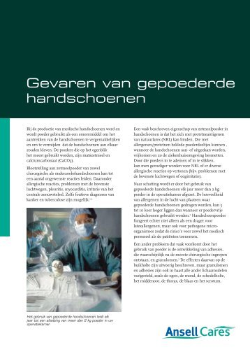 Volledig document downloaden (pdf) - Ansell Healthcare Europe