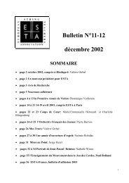 Bulletin N°11-12 décembre 2002 - Esta France