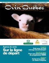 Édition Avril 2007 - Fédération des producteurs d'agneaux et ...