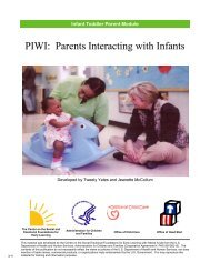PIWI: Parents Interacting with Infants - Center on the Social and ...
