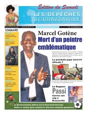 Edition du Samedi Marcel Gotène Mort d'un peintre emblématique