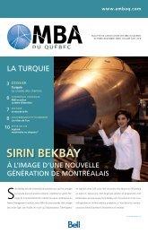 Sirin BekBay - Association des MBA du Québec