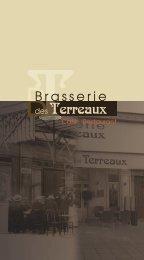 Téléchargez la Carte de la Brasserie des Terreaux