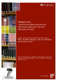 a copy of the annotated bibliography on synthetic biology ... - Sybhel