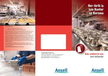 Her türlü iş için Konfor ve Koruma - Ansell Healthcare Europe