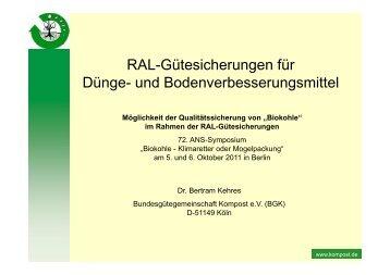 """Möglichkeit der Qualitätssicherung von """"Biokohle"""" - ANS eV"""