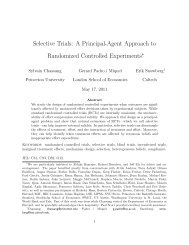 Selective Trials: A Principal-Agent Approach to Randomized ... - LSE