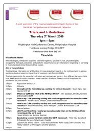 Trials and tribulations Thursday 5 March 2009 1pm – 5pm