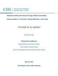 future of al-qaeda - Center for Strategic and International Studies