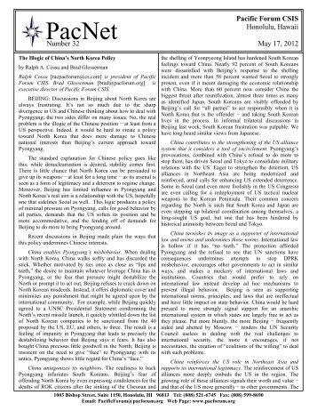 PacNet #32 - The Illogic of China's North Korea Policy.pdf