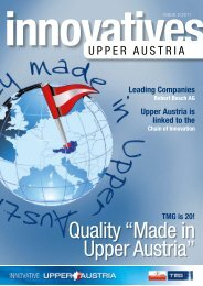 Innovative Upper Austria 02/2011. - TMG - Standort