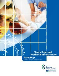Clinical Trials and Preclinical Infrastructure Asset Map - Genome BC
