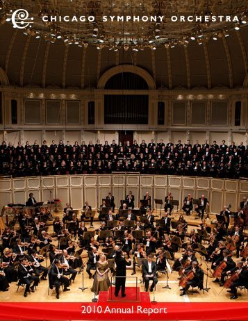 2010 Annual Report - Chicago Symphony Orchestra