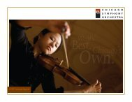 2009 Annual Report - Chicago Symphony Orchestra