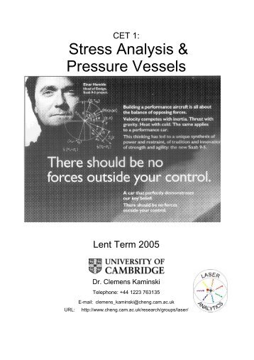 Stress Analysis & Pressure Vessels - Laser Analytics Group