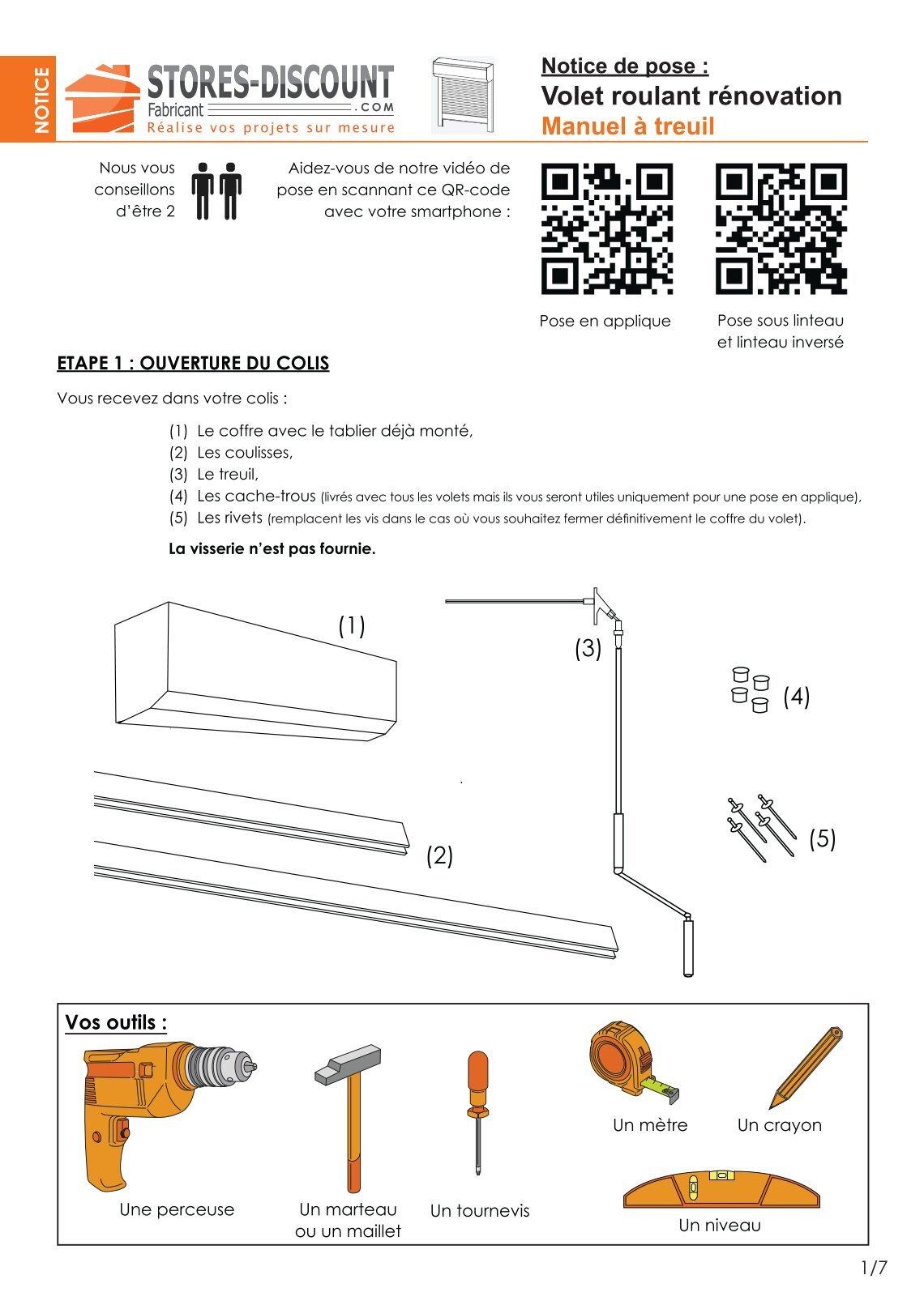 treuil manuel volet roulant elegant volet roulant pvc manuel sangle lames pvc mm coffre pan. Black Bedroom Furniture Sets. Home Design Ideas