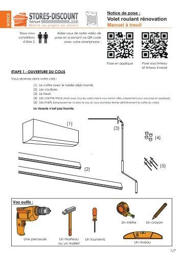 Notice installation volet roulant manuel velux - Installer un volet roulant manuel ...