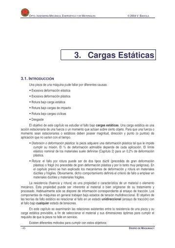 3. Cargas Estáticas - Ingeniería Mecánica Aplicada y Computacional