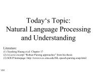 Today's Topic: Natural Language Processing