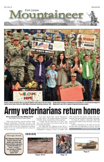 March 29, 2013 - Colorado Springs Military Newspaper Group