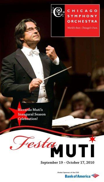 Download Festa Muti Brochure - Chicago Symphony Orchestra