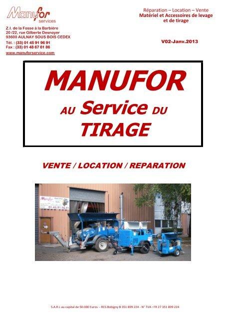Au Service Du Tirage Manufor Services