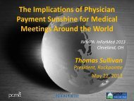 The Implications of Physician Payment Sunshine for ... - immpa