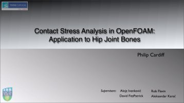 Contact Stress Analysis in OpenFOAM: Application to Hip Joint Bones
