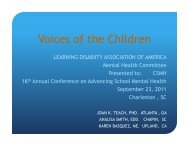 Voices of the Children - Center for School Mental Health
