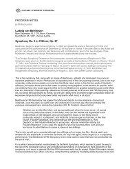 PROGRAM NOTES Ludwig van Beethoven - Chicago Symphony