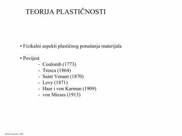 TEORIJA PLASTIČNOSTI