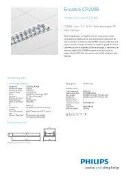 Luminaire rectangulairem CR200B avec verre trempé (GT) - Philips