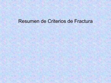 Resumen de Criterios de Fractura - Centro de Geociencias ::.. UNAM