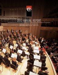 Download Annual Report - Chicago Symphony Orchestra