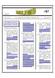 TENDENCIAS EN REHABILITACIÓN - Infomed