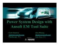 Power System Design with Ansoft EM Tool Suite