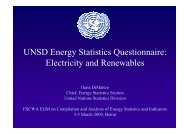 UNSD Energy Statistics Questionnaire: Electricity and Renewables