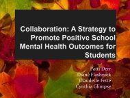Collaboration - Center for School Mental Health
