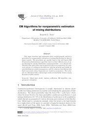 EM Algorithms for nonparametric estimation of mixing distributions