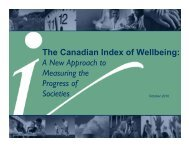 The Canadian Index of Wellbeing: A New Approach to Measuring ...