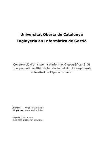 SIG relació traçat riu Llobregat amb època romana - Universitat ...