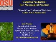 Camelina Production Best Management Practices