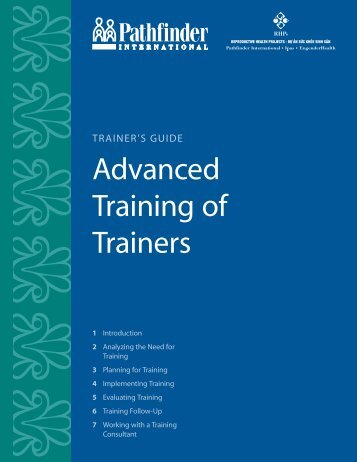 Advanced Training of Trainers - Pathfinder International