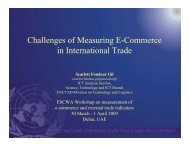 Challenges of Measuring E-Commerce in International Trade