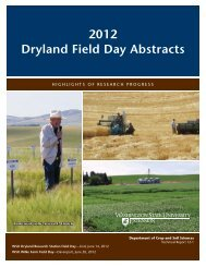 2012 Dryland Field Day Abstracts - Dept. of Crop and Soil Sciences ...